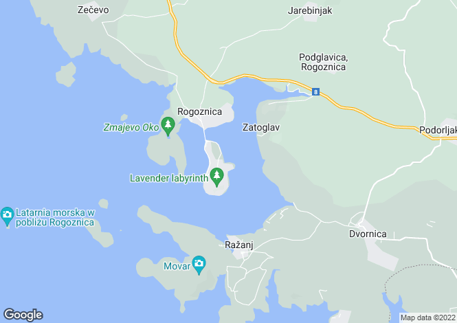Map for Rogoznica, Sibenik-Knin