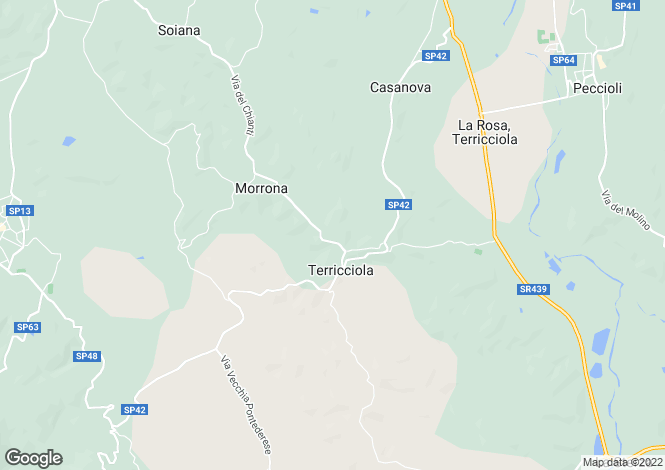 Map for Tuscany, Pisa, Terricciola