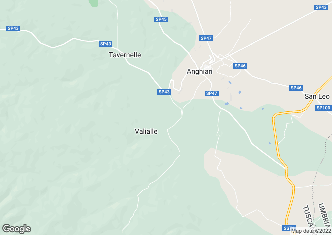 Map for Anghiari, Tuscany, Italy