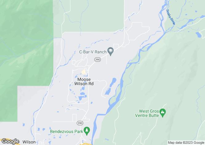 Map for Wyoming, Teton County, Wilson