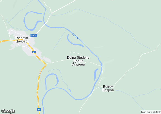 Map for Tsenovo, Ruse