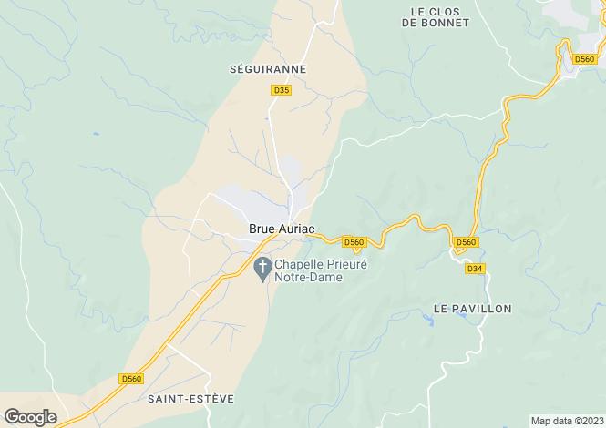 Map for brue-auriac, Var, France
