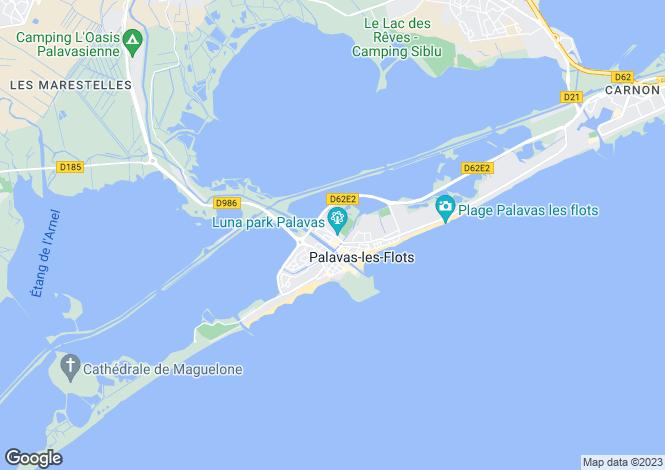 Map for PALAVAS LES FLOTS, Herault (Montpellier, Pezenas), Occitanie,