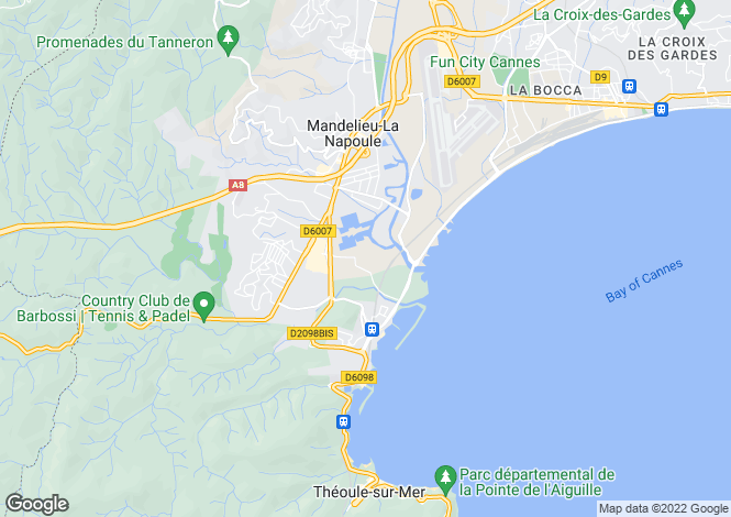 Map for MANDELIEU LA NAPOULE, Cannes Area, Riviera,