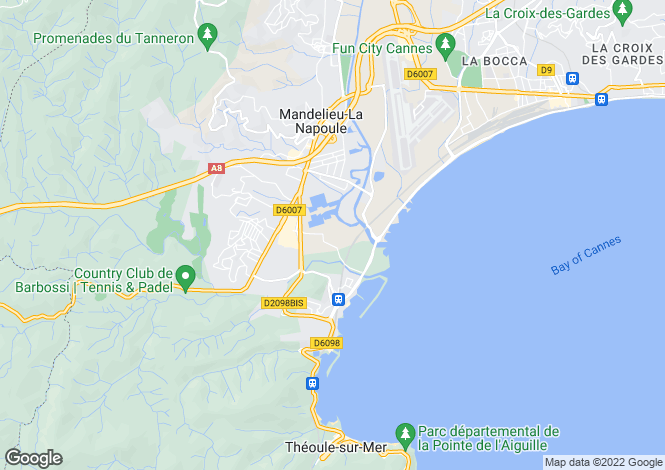 Map for MANDELIEU LA NAPOULE,Provence-Alpes-Côte d'Azur, France