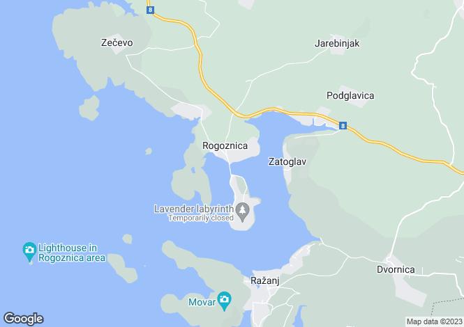 Map for Sibenik