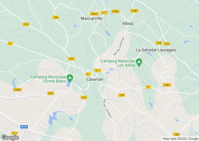 Map for caraman, Haute-Garonne, France