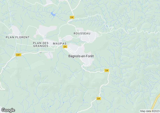 Map for Bagnols - En- Forêt, French Riviera, Haut Var
