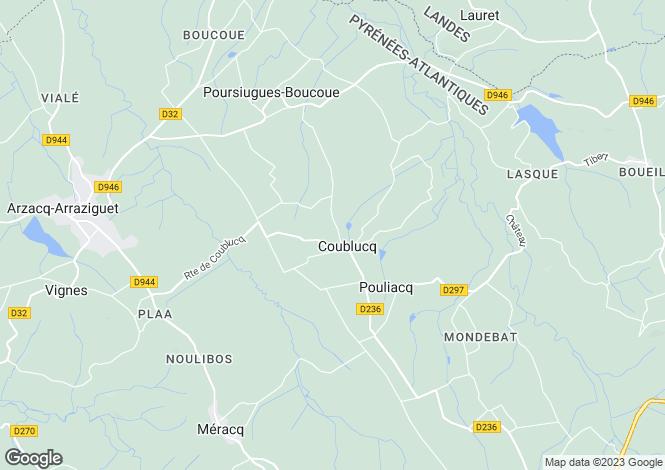 Map for coublucq, Pyrénées-Atlantiques, France