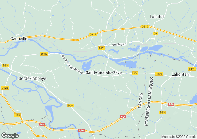 Map for st-cricq-du-gave, Landes, France
