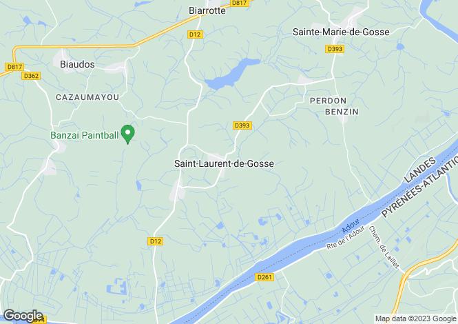 Map for SAINT LAURENT DE GOSSE ,France