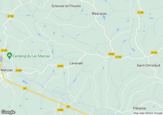 Map for laveraet, Gers, France