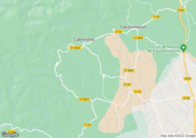 Map for Cabrerolles, Cabrerolles, France