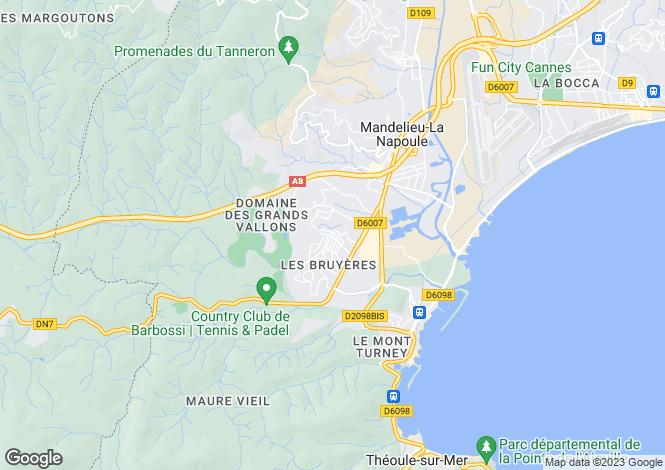 Map for Frejus Saint-Jean-De-Lesterel, Provence-Alpes-Cote dAzur, France