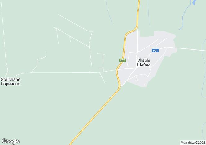 Map for Shabla, Dobrich