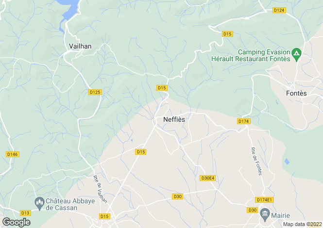Map for Neffies, Languedoc-Roussillon, France