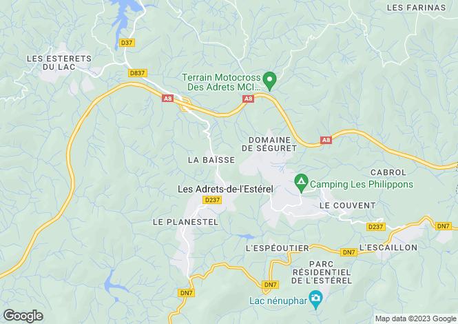 Map for Les Adrets-de-l'Esterel, Var, France