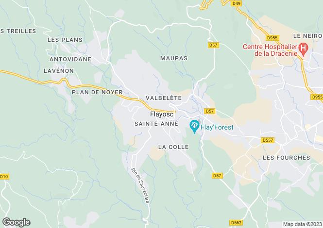 Map for Provence-Alps-Cote d`Azur, Var, Flayosc