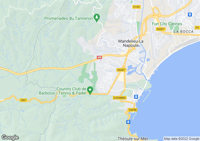 Map for Mandelieu-la-Napoule, Alpes-Maritimes, Provence-Alps-Cote d`Azur