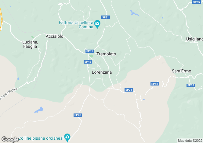 Map for Tuscany, Pisa