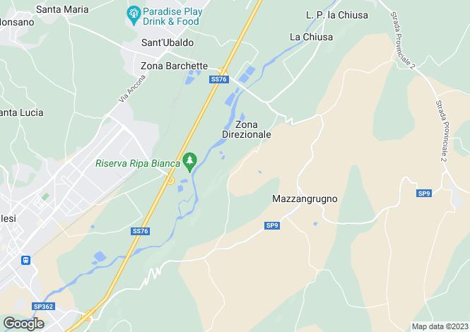 Map for Jesi, Ancona, Le Marche