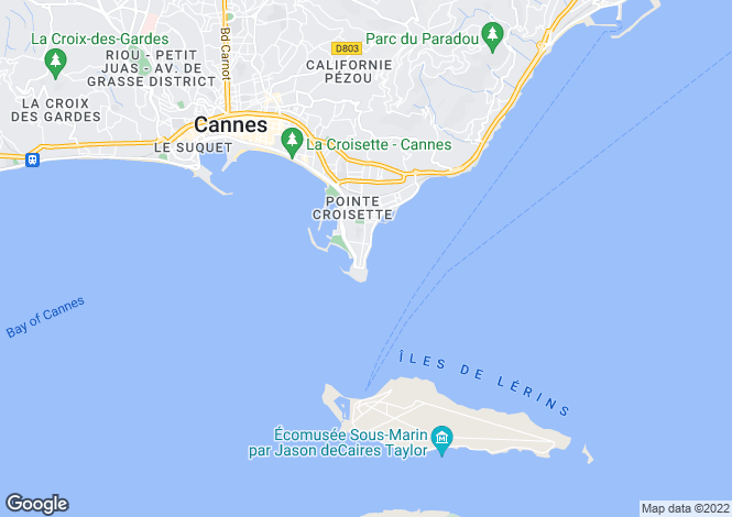 Map for Cannes Palm Beach, Alpes-Maritimes, France