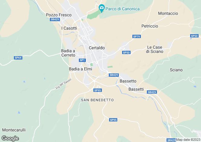 Map for Certaldo, San Gimignano, Florence