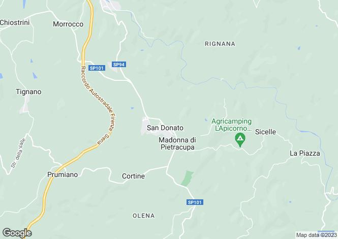 Map for San Donato, Chianti, Florence
