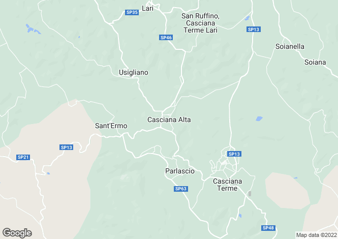 Map for Casciana Alta, Tuscany, Italy