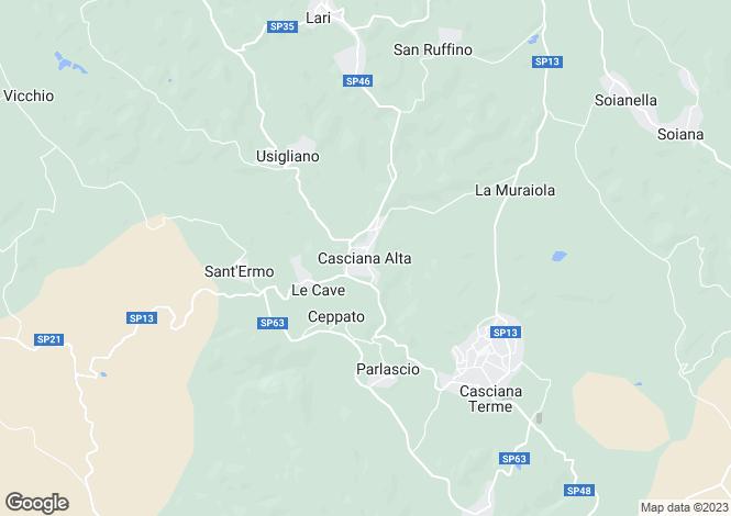 Map for Casciana Terme, Pisa, Italy