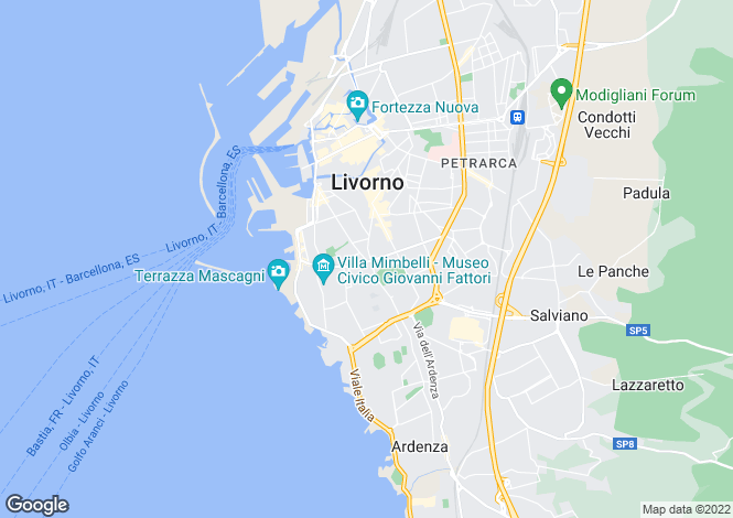 Map for Tuscany, Livorno, Livorno