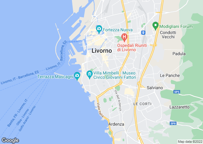 Map for Livorno,Italy
