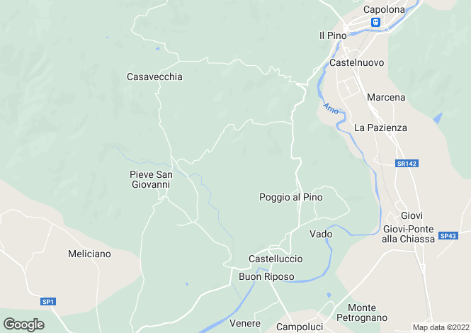 Map for Greve In Chianti, Florence, Tuscany, Italy