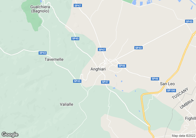 Map for Monteloro, Anghiari, Tuscany, Italy