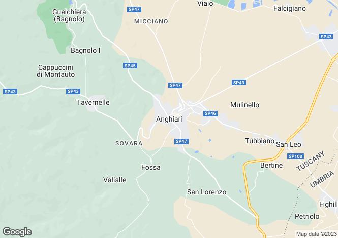 Map for Anghiari, Arezzo, Tuscany