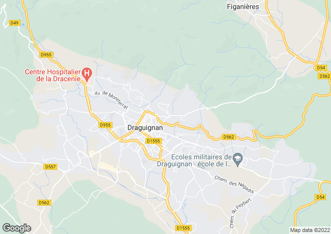 Map for draguignan, Var, France