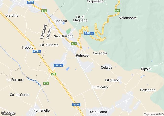 Map for Umbria, Perugia, San Giustino