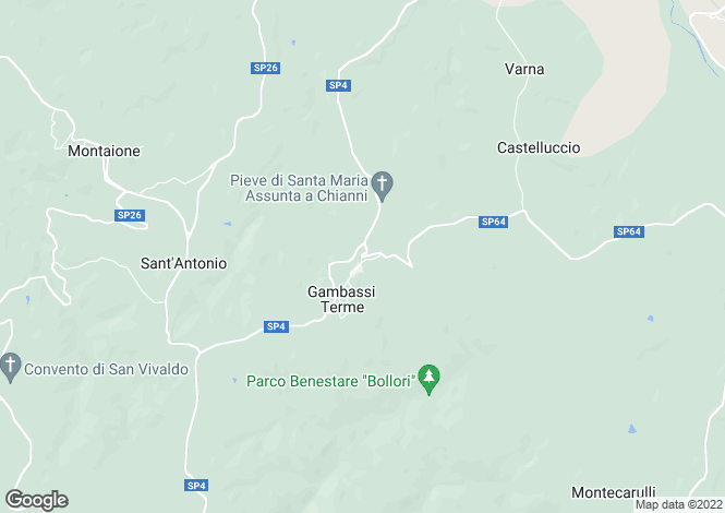 Map for Gambassi Terme, Tuscany, Italy