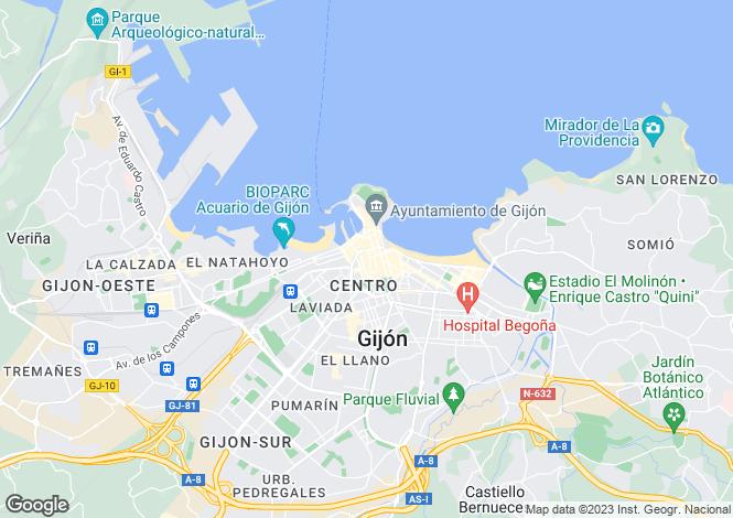 Map for Asturias