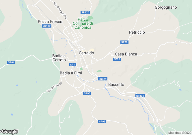 Map for Certaldo, Florence, Tuscany