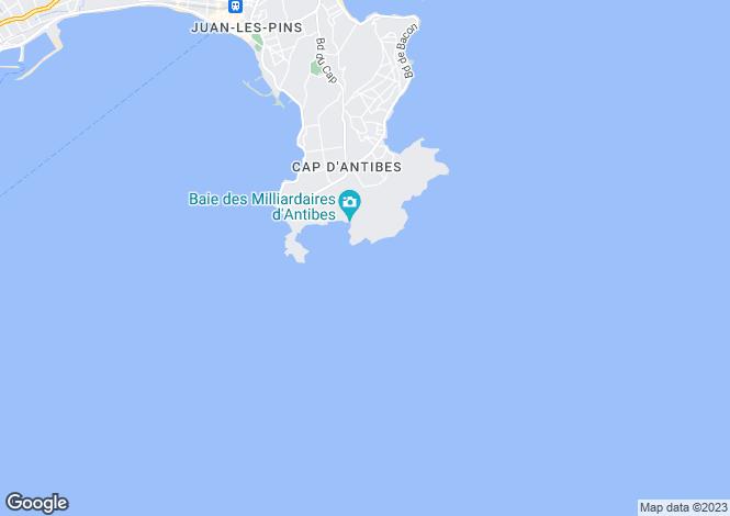 Map for Cap D'antibes, Alpes-Maritimes, Provence-Alps-Cote d`Azur