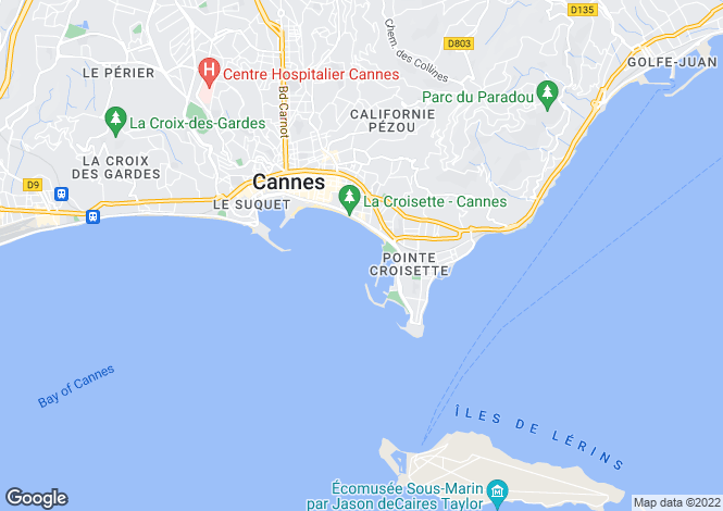 Map for Cannes Palm Beach, Provence-Alpes-Cote dAzur, France