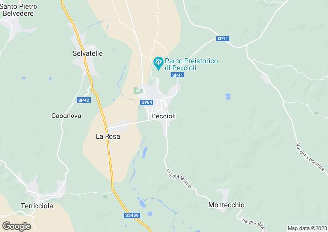 Map for Peccioli, Pisa, Italy