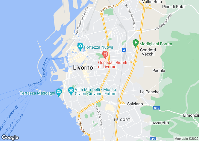 Map for Livorno, Livorno, Tuscany