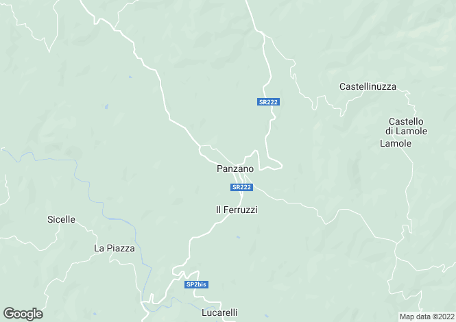 Map for Tuscany, Florence, Panzano In Chianti