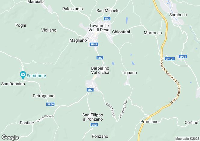 Map for Barberino Val D'elsa, Tuscany, Italy