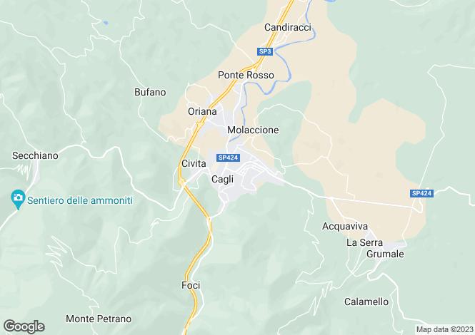 Map for Le Marche, Pesaro e Urbino, Cagli
