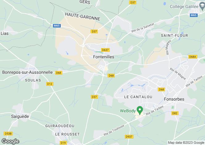 Map for Fontenilles, Haute-Garonne, Midi-Pyrénées