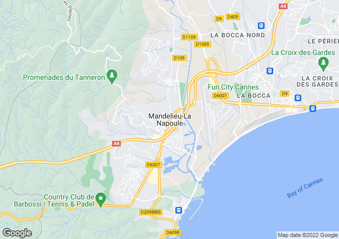 Map for Mandelieu-La-Napoule, Alpes-Maritimes, 06210, France