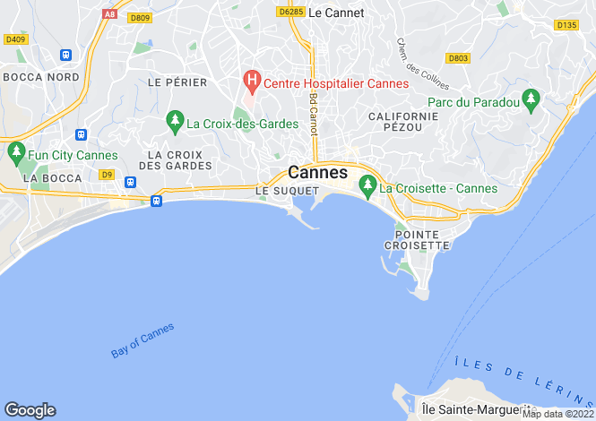 Map for Cannes, Alpes-Maritimes, France